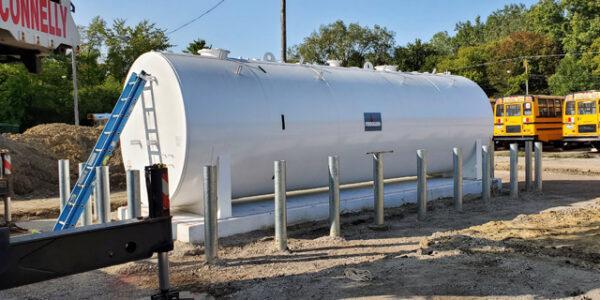 Above-ground fuel tank (AST) installation in Southfield, Michigan